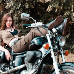 bike biker style bikergirl motorcycle moto freetoedit