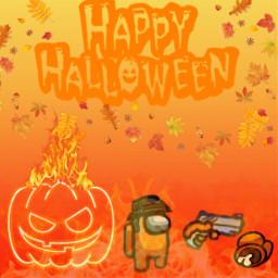 orange amongus colors amongusorange pumpkin autumm halloween impostor killer fire freetoedit