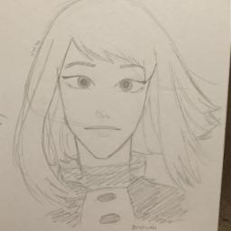 uraraka mha drawing anime animeart