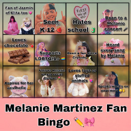 k melaniemartinez bingo fan freetoedit