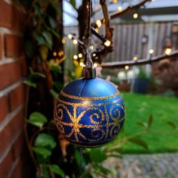 kinora almost decorating mygarden christmas blue freetoedit