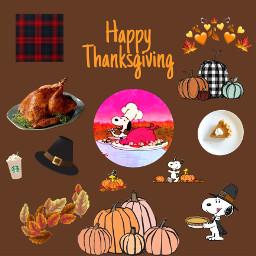 thanksgiving snoopy turkey starbucks pumpkin leaves freetoedit