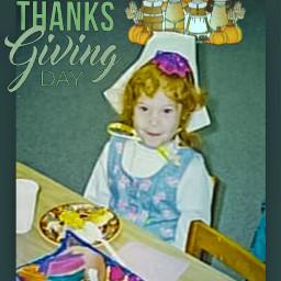 throwback thanksgiving girl cute school freetoedit