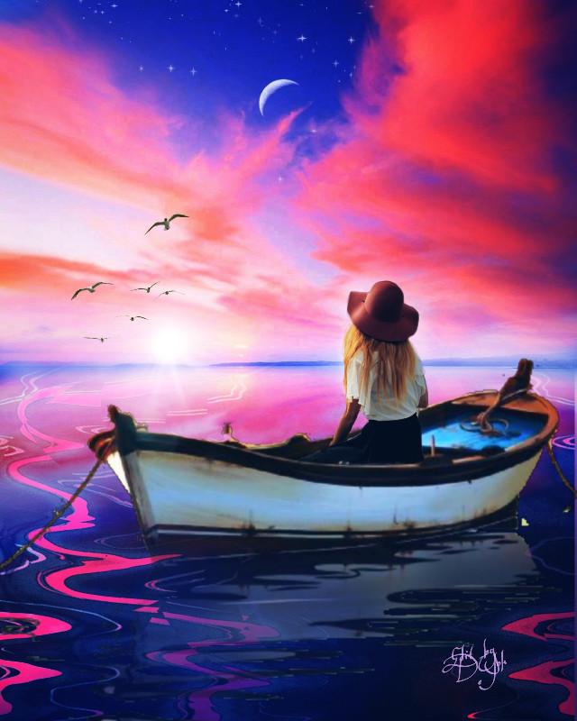 #Mastershoutout to Deesign_1, #sunset, #sunsetsky, #reflectons, #serenity , #calm, #beauty,  #nature, #view, #duskysky, #remix, #maskeffect,  #lensflare, #fxeffects