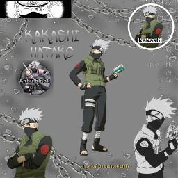 kakashihakate kakashi anime greybackground freetoedit
