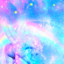 freetoedit glitter sparkle galaxy sky stars rainbow unicorn animal magical dream prism stardust pastel cute girly kawaii shimmer holographic overlay background wallpaper