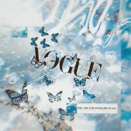 aesthetic blue butterfly butterflyaesthetic blueaesthetic freetoedit