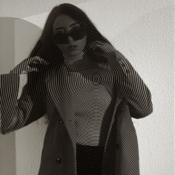 lines art woman freetoedit