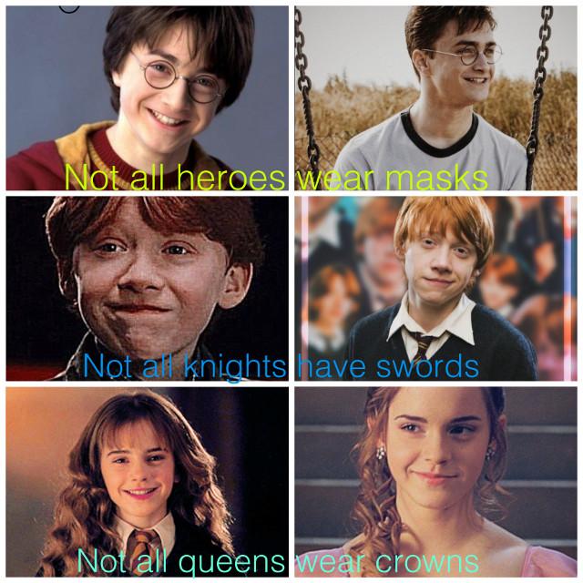 #harrypotter #ronaldweasley #hermionegranger #hogwarts #gryffindorpride #queen #hero #knight