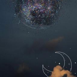 fondosdepantalla space sky luna moon artistic artistc madebypicsart