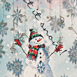 letitsnow music snow text song quote snowflakes snowman freetoedit