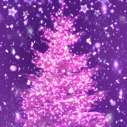 freetoedit glitter sparkle galaxy sky stars christmastree christmas holidays lights purple snow winter glow neon cute girly bling overlay background wallpaper