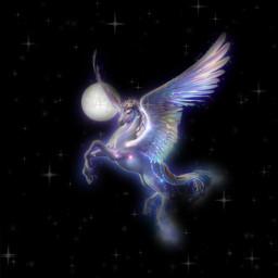 unicorn beautifulbirthmarks art miraculous nelsonmandela happy ay month moon at horse gökyüzü universe uzay uzaylı seventeen yıldız parlar star freetoedit moonaesthetic