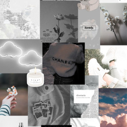wallpaper aesthetic white whiteaesthetic aestheticwallpaper whitewallpaper bear book chanel clouds books rose flowers quote heart car retro sky shoes candle perfume whiteflower whitecar whiteheart grey freetoedit