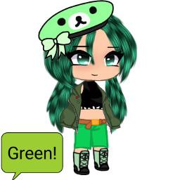 gacha gachalife gachaclub cute mignon lilikittymimi green freetoedit
