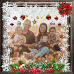 christmas family merry merrychistmas border frame prismeffect christmasspirit happyholidays toyou fromme giftphoto freetoedit