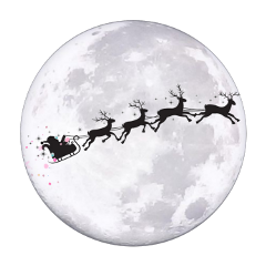christmas moon sihlouette use interesting night freetoedit