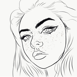 outline drawing art pinterest cartoon freetoedit