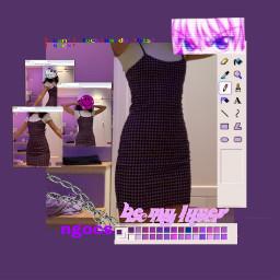 plaid dress purple black cool lgbtq altstyle indie fem freetoedit