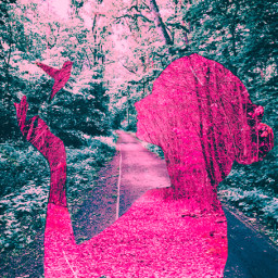 spring autumn forest cybereffects replay dustmask pink freetoedit