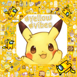 pikachukawaii freetoedit rcyellowvibes yellowvibes