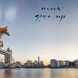 horse jump london bridge londonbridge ecimagineabrighterreality freetoedit