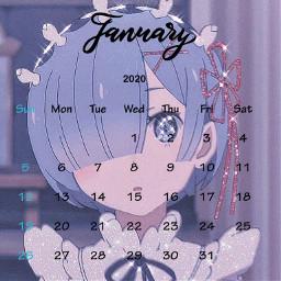 rem re january calendary freetoedit