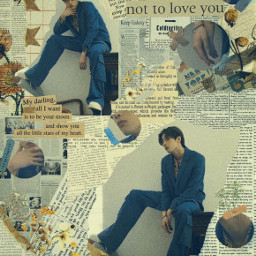 seungwoo han hanseungwoo seungwoox1 seungwoovicton seungwooedit seungwoolove x1 victon victonseungwoo victonedit editbyme kpop kpopedit vintage newspapers flowers moodboard freetoedit
