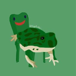 art digitalart digitaldrawing digitalartist nature frog frogstickers frogmeme frogdrawing memes