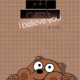 wallpaper webarebears cute kawaii grizzly freetoedit
