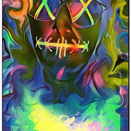 colorful selfie selfportrait tiedye natnat7w ghoulish psychedelic trippy hiddenidentity