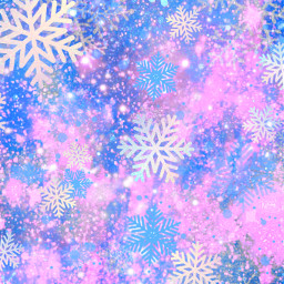 freetoedit glitter sparkle galaxy sky stars pastel pink blue cute snow winter frost snowflakes christmas holiday holographic overlay background wallpaper