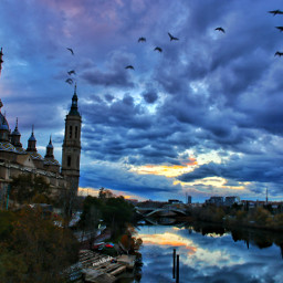 zaragoza spain sunsetskies atardeciendo freetoedit