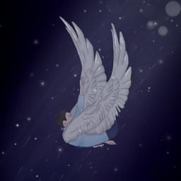 drawing art digitalart fallenangel angel