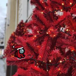 christmas christmasspirit christmastree red street city amongus freetoedit