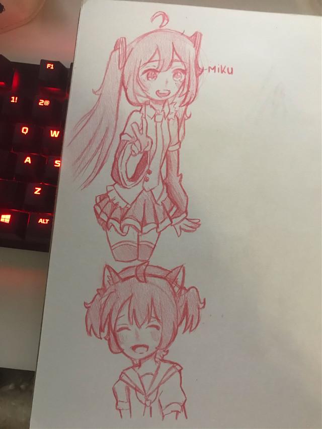 more doodles and ft. miku!! <3    #doodles#doodle #artist #mikuhatsune #animearts #vocaliod #animeartstyle #artstyle #kawaiigirl #cutegirl #hatsunemiku #miku #artist