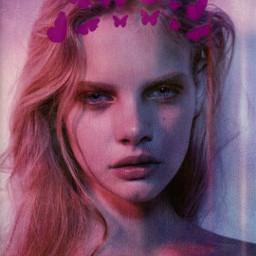 freetoedit picsart pink srcbutterfliescrown butterfliescrown