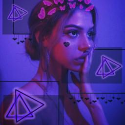 freetoedit picsart purple pink sticker srcbutterfliescrown butterfliescrown