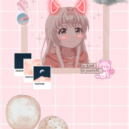 pink wallpaper pinkwallpaper anime animewallpaper screensaver pretty cute kawaii freetoedit