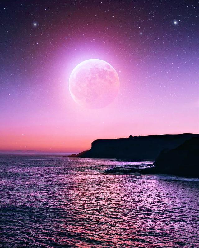 Absolutely full Moon 🌕 Beautiful shotz 📷 ------------------------------------------------------------------ @picsart @freetoedit     #myedit #myart #editedbyme #digitalart #sky  #sunset #photography #nature #fullmoon #art  #artistic #ocean #beach #nature #background  #silhouette #wallpaper #travel #landscape  #freetoedit