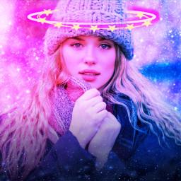 freetoedit galaxy glitter pink blue pretty cute winter
