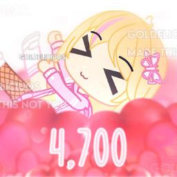 gacha edit gachaedit gachaclub gachaclubedit thanks thankyou cute hearts pink effects chibi art arts 47k 4700 followers follower follow followed following follows 4k 4000 roadto5k