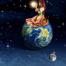 moon terra sun freetoedit