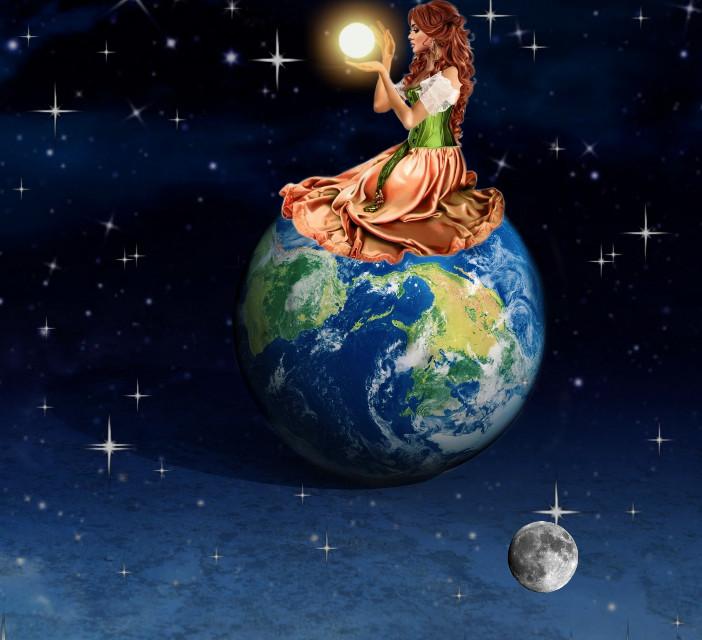 #moon #terra #sun