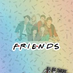 friends. monicageller rossgeller pheobebuffay joeytribiani rachelgreen freetoedit friends