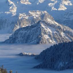 switzerland mountain rigi majestic winter snow