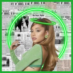freetoedit foryoupage fanedit ariana arianagrande singer neon green