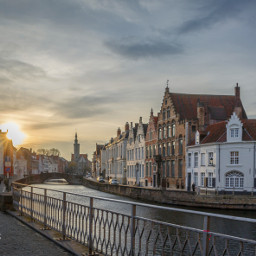 photography travel architecture sunset belgium citytrip