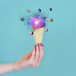 cone icecream planets freetoedit