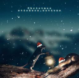 christmas santa surreal surrealism madewithpicsart photomanipulation heypicsart nature snow background freetoedit